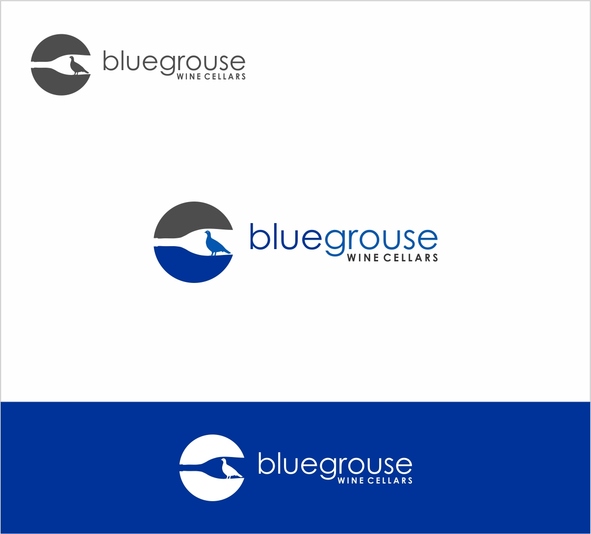 Logo Design by haidu - Entry No. 142 in the Logo Design Contest Creative Logo Design for Blue Grouse Wine Cellars.