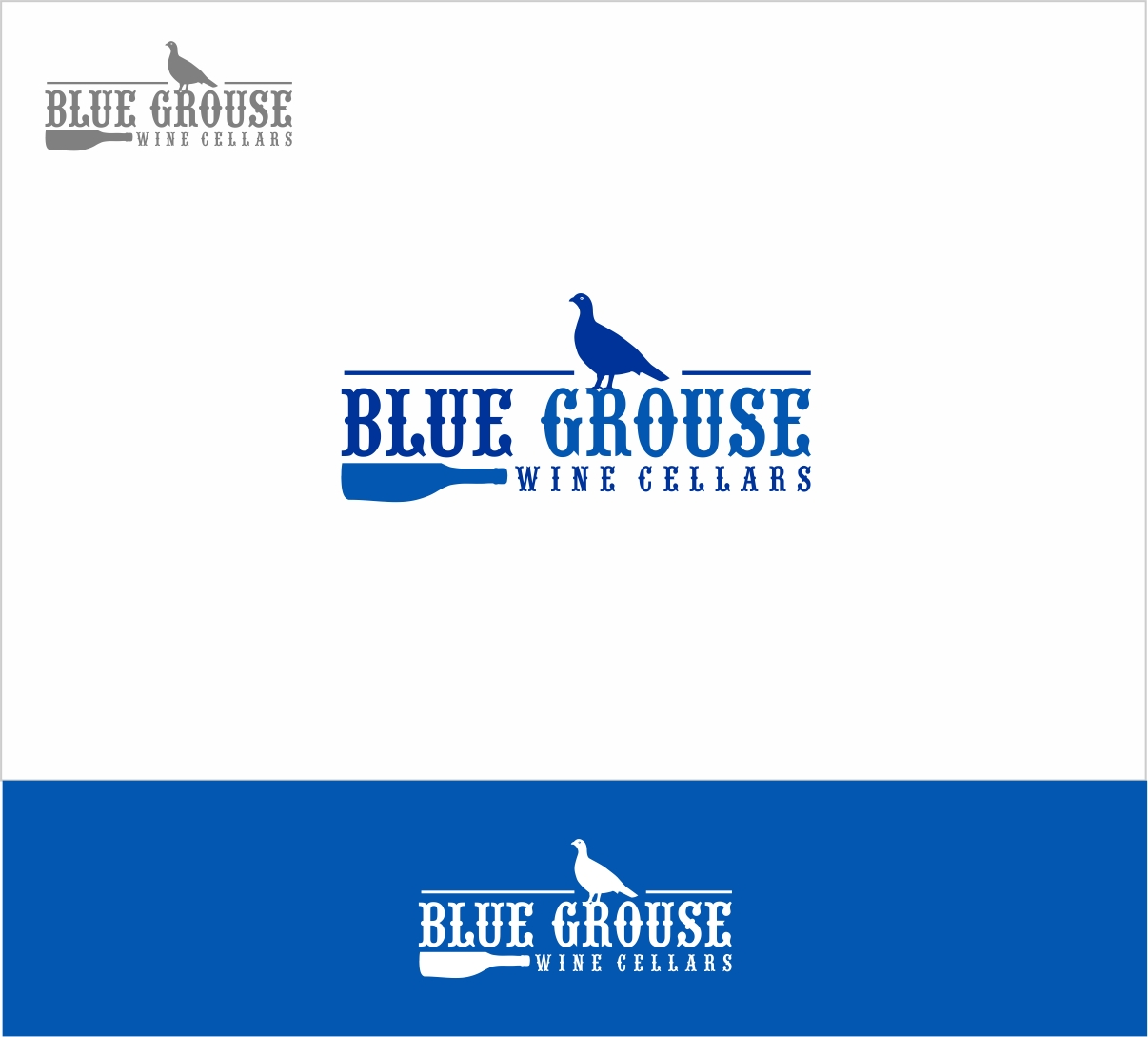 Logo Design by haidu - Entry No. 146 in the Logo Design Contest Creative Logo Design for Blue Grouse Wine Cellars.