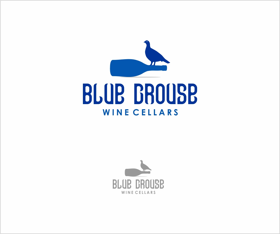 Logo Design by haidu - Entry No. 147 in the Logo Design Contest Creative Logo Design for Blue Grouse Wine Cellars.