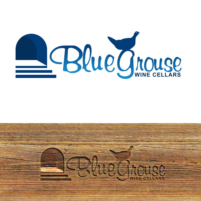 Logo Design by Private User - Entry No. 148 in the Logo Design Contest Creative Logo Design for Blue Grouse Wine Cellars.