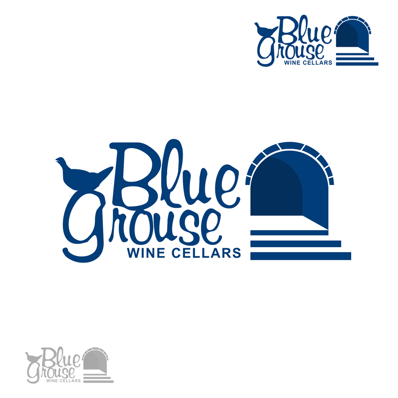 Logo Design by Private User - Entry No. 150 in the Logo Design Contest Creative Logo Design for Blue Grouse Wine Cellars.