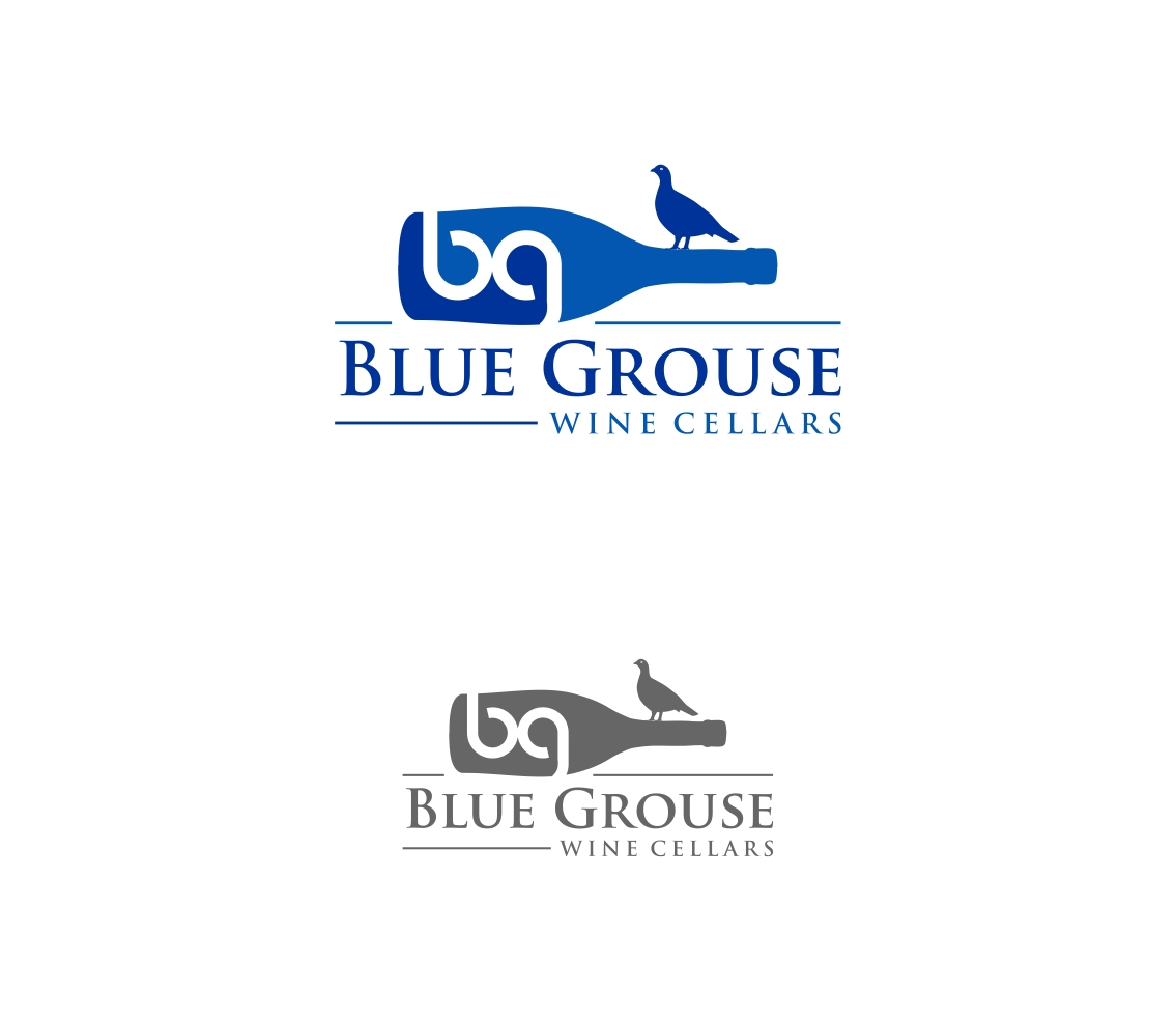 Logo Design by haidu - Entry No. 154 in the Logo Design Contest Creative Logo Design for Blue Grouse Wine Cellars.