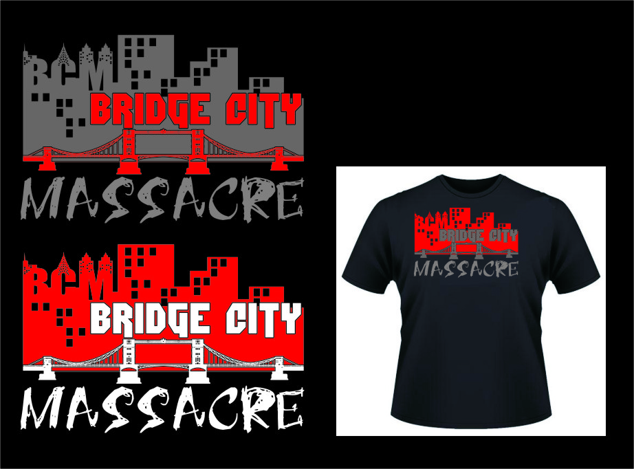 Logo Design by Ngepet_art - Entry No. 15 in the Logo Design Contest New Logo Design for Bridge City Massacre.