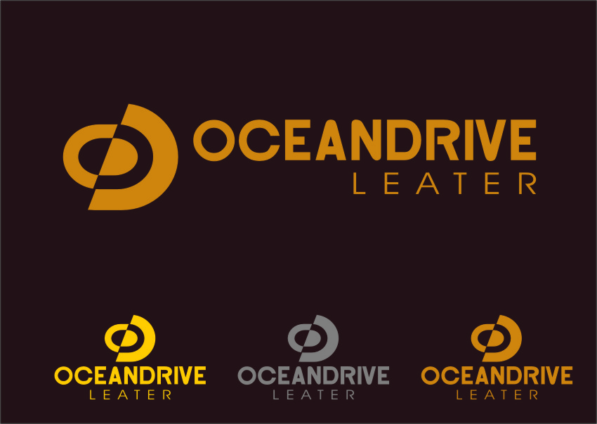 Logo Design by Ngepet_art - Entry No. 55 in the Logo Design Contest Captivating Logo Design for Oceandrive Leather.