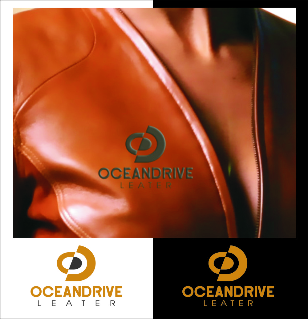 Logo Design by RoSyid Rono-Rene On Java - Entry No. 56 in the Logo Design Contest Captivating Logo Design for Oceandrive Leather.