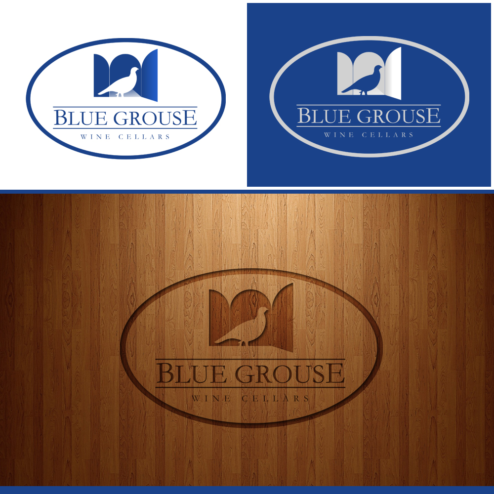 Logo Design by omARTist - Entry No. 155 in the Logo Design Contest Creative Logo Design for Blue Grouse Wine Cellars.