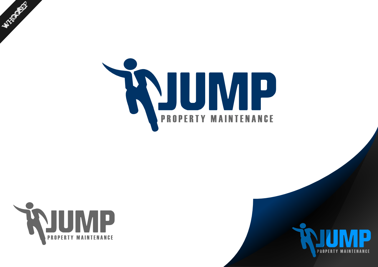 Logo Design by whoosef - Entry No. 10 in the Logo Design Contest Creative Logo Design for Jump Property Maintenance.