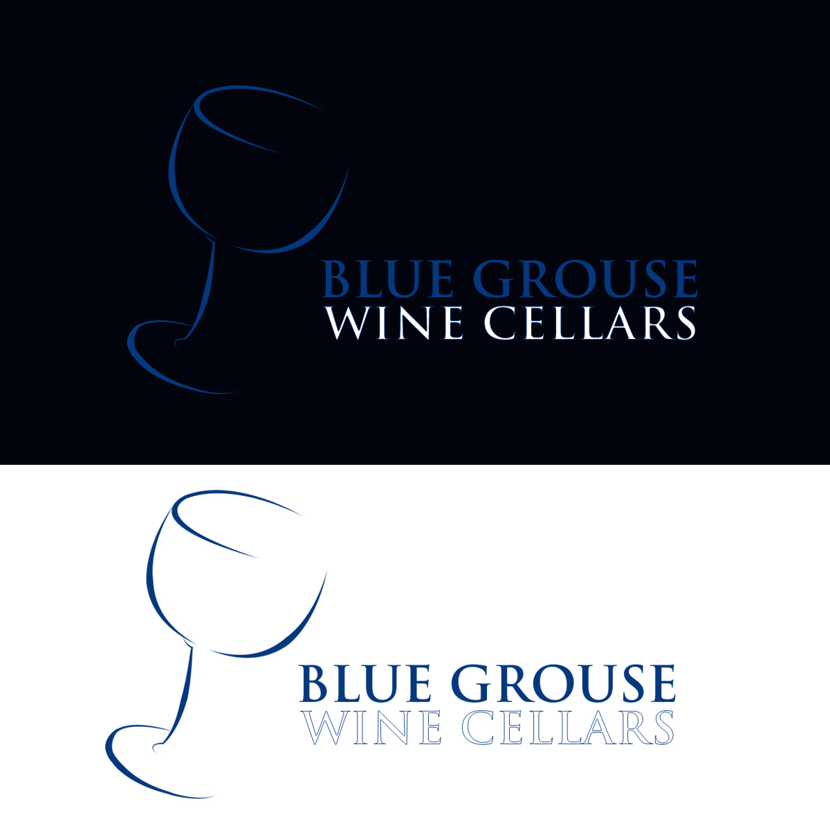 Logo Design by Private User - Entry No. 156 in the Logo Design Contest Creative Logo Design for Blue Grouse Wine Cellars.