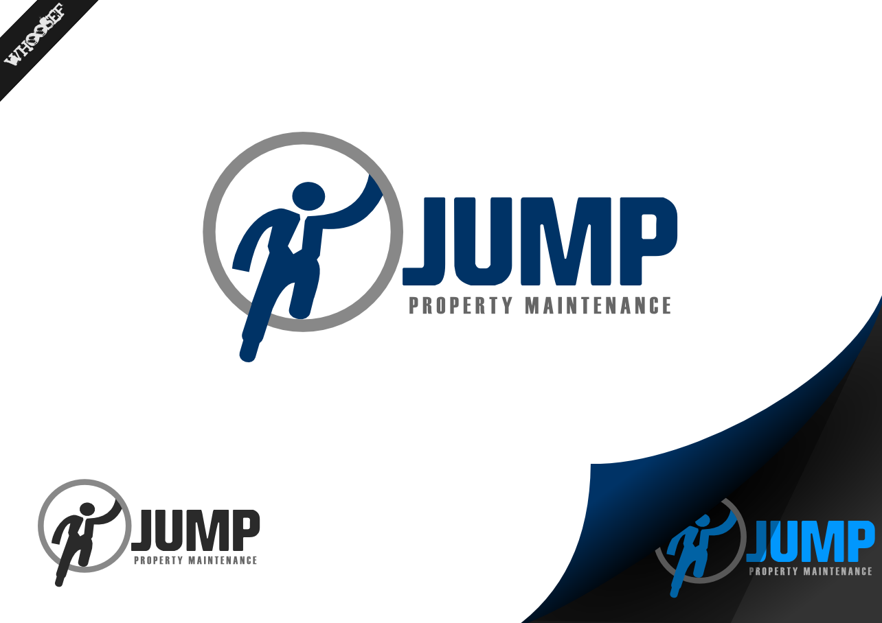 Logo Design by whoosef - Entry No. 12 in the Logo Design Contest Creative Logo Design for Jump Property Maintenance.