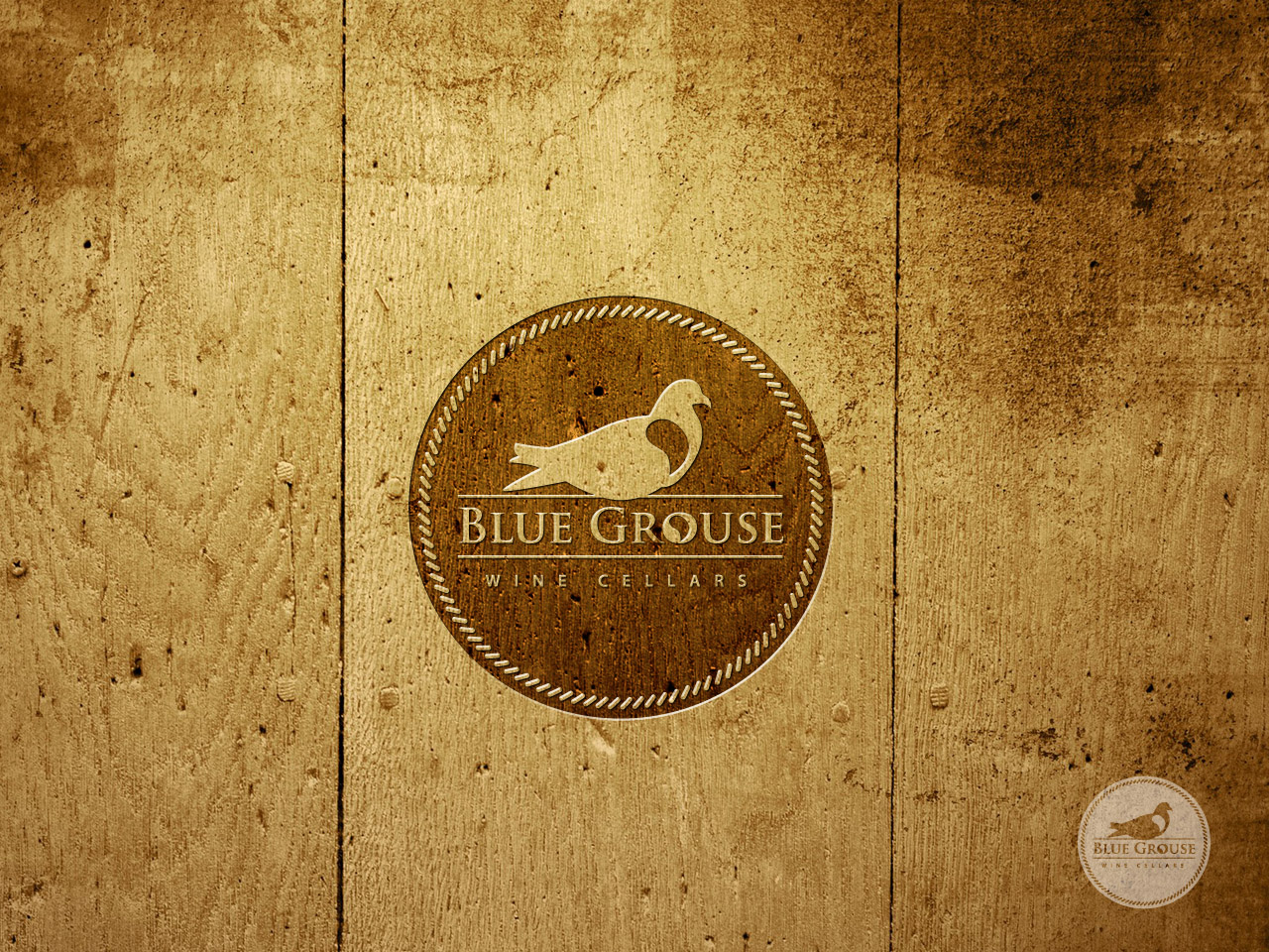 Logo Design by jpbituin - Entry No. 157 in the Logo Design Contest Creative Logo Design for Blue Grouse Wine Cellars.