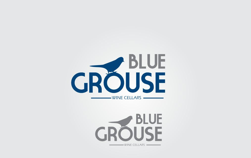 Logo Design by Tenstar Design - Entry No. 162 in the Logo Design Contest Creative Logo Design for Blue Grouse Wine Cellars.