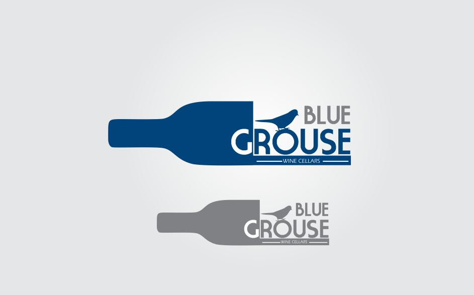 Logo Design by Tenstar Design - Entry No. 163 in the Logo Design Contest Creative Logo Design for Blue Grouse Wine Cellars.