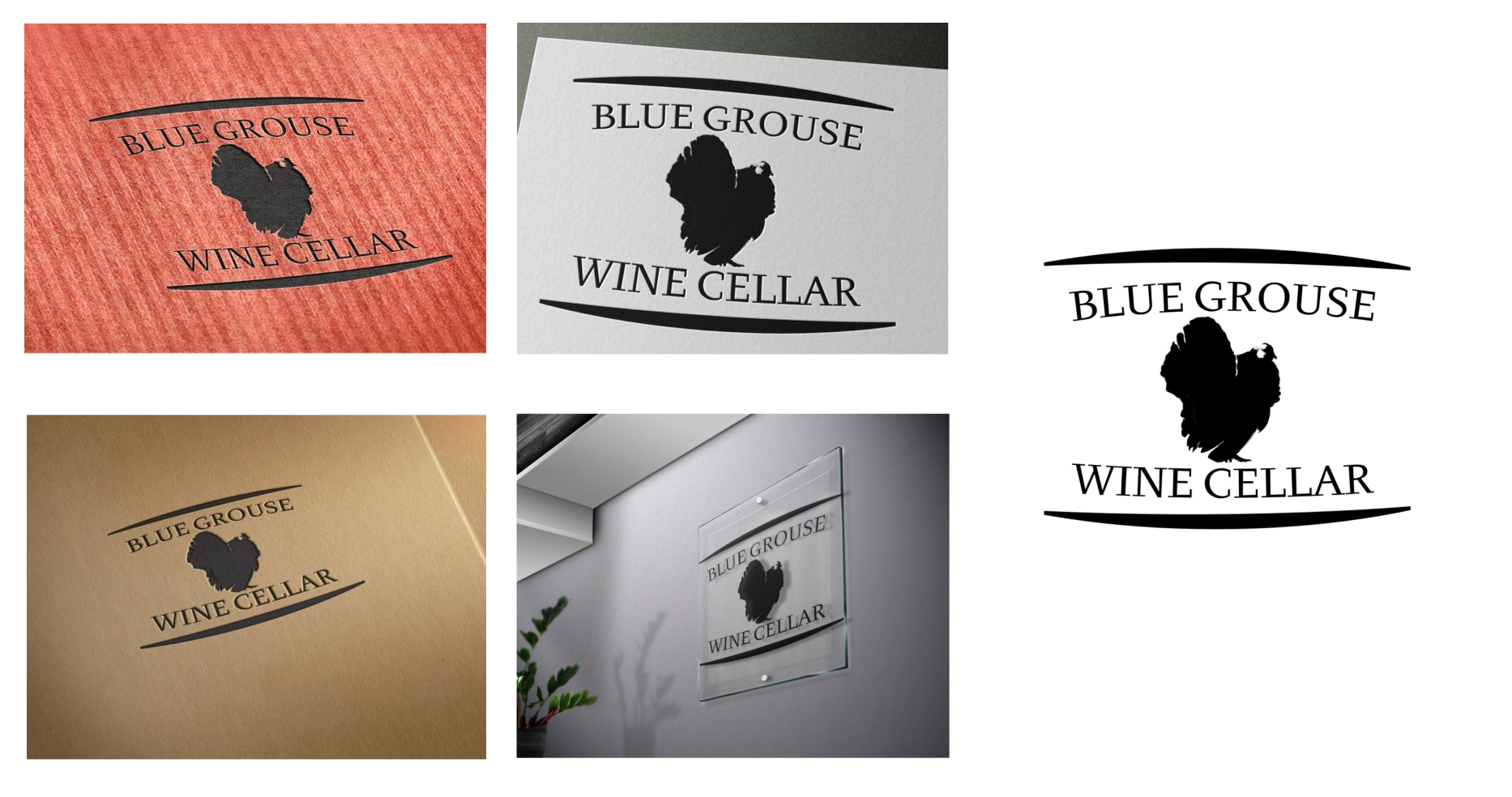 Logo Design by Banciu Daniel - Entry No. 166 in the Logo Design Contest Creative Logo Design for Blue Grouse Wine Cellars.