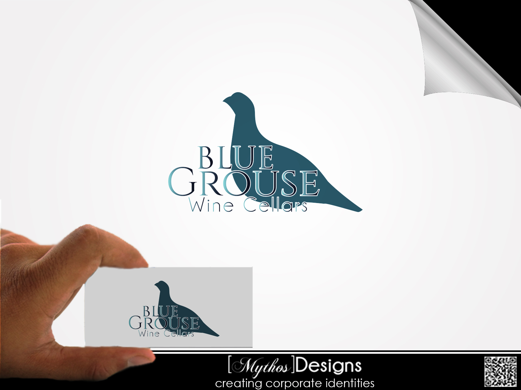 Logo Design by Mythos Designs - Entry No. 167 in the Logo Design Contest Creative Logo Design for Blue Grouse Wine Cellars.
