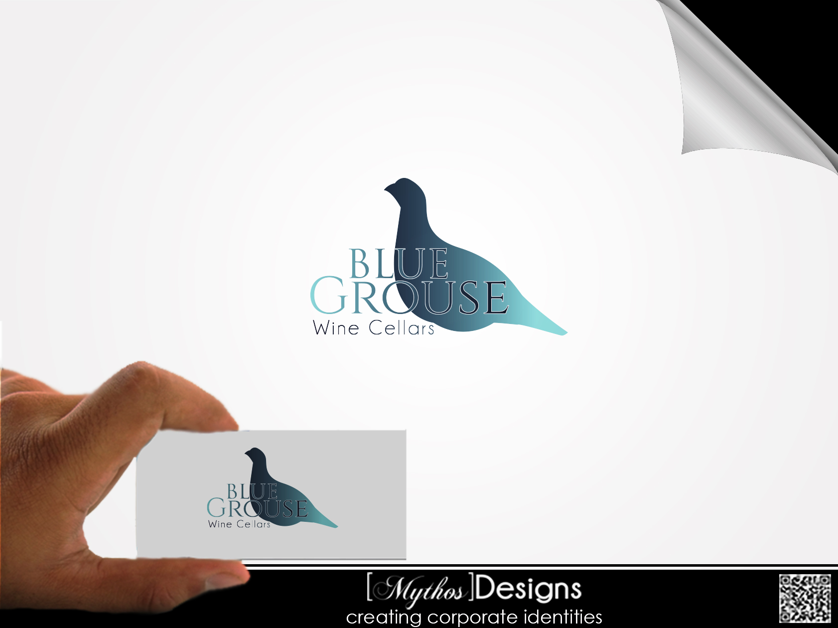 Logo Design by Mythos Designs - Entry No. 168 in the Logo Design Contest Creative Logo Design for Blue Grouse Wine Cellars.