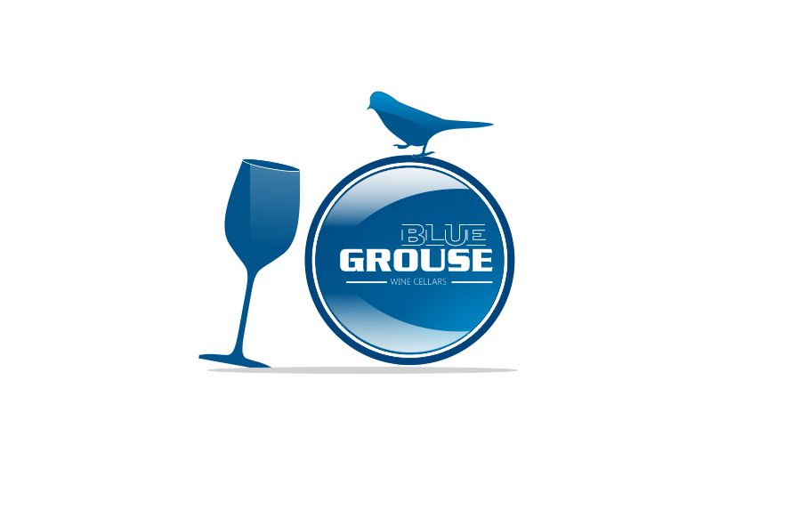 Logo Design by Tenstar Design - Entry No. 171 in the Logo Design Contest Creative Logo Design for Blue Grouse Wine Cellars.