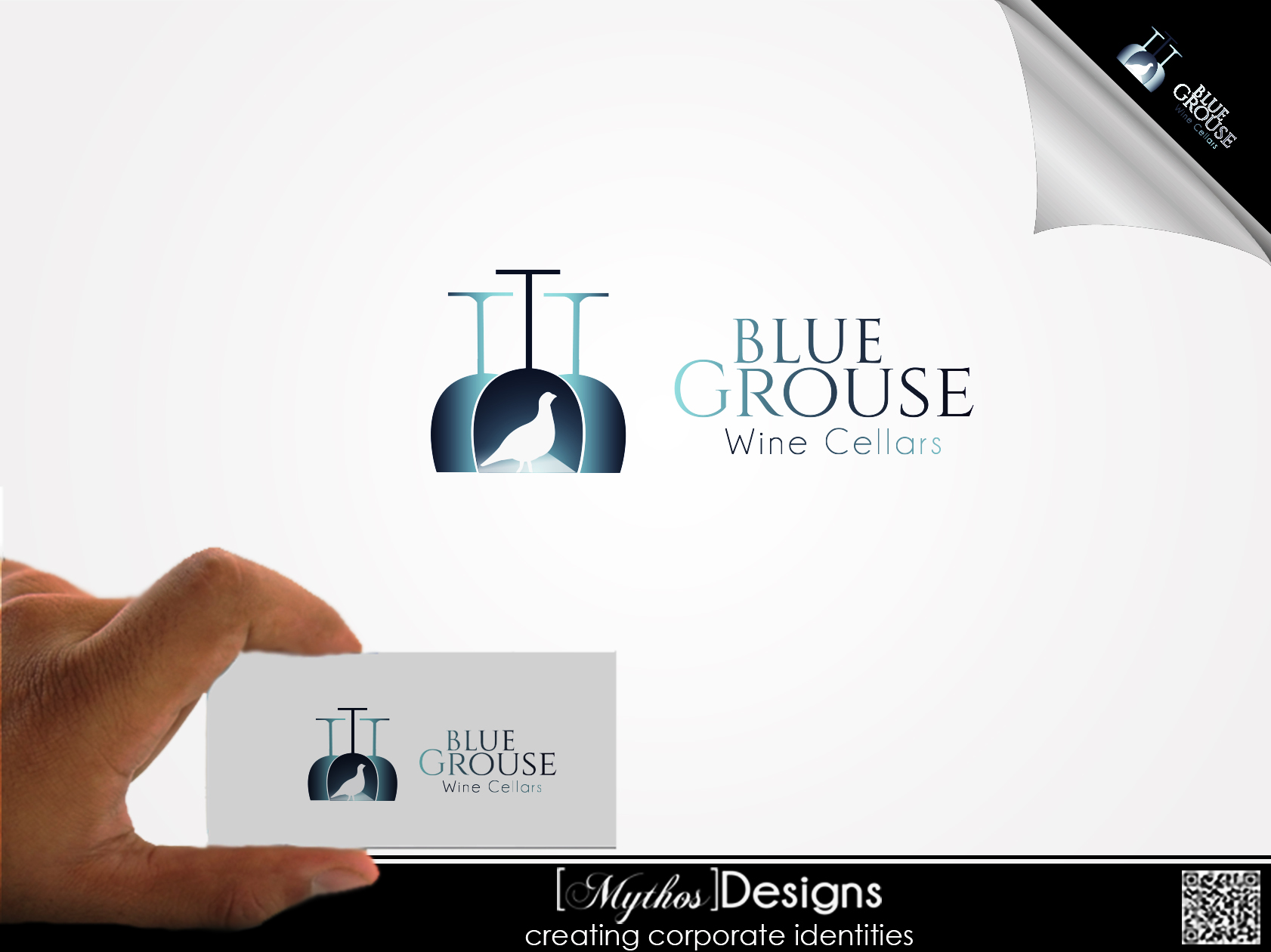 Logo Design by Mythos Designs - Entry No. 172 in the Logo Design Contest Creative Logo Design for Blue Grouse Wine Cellars.