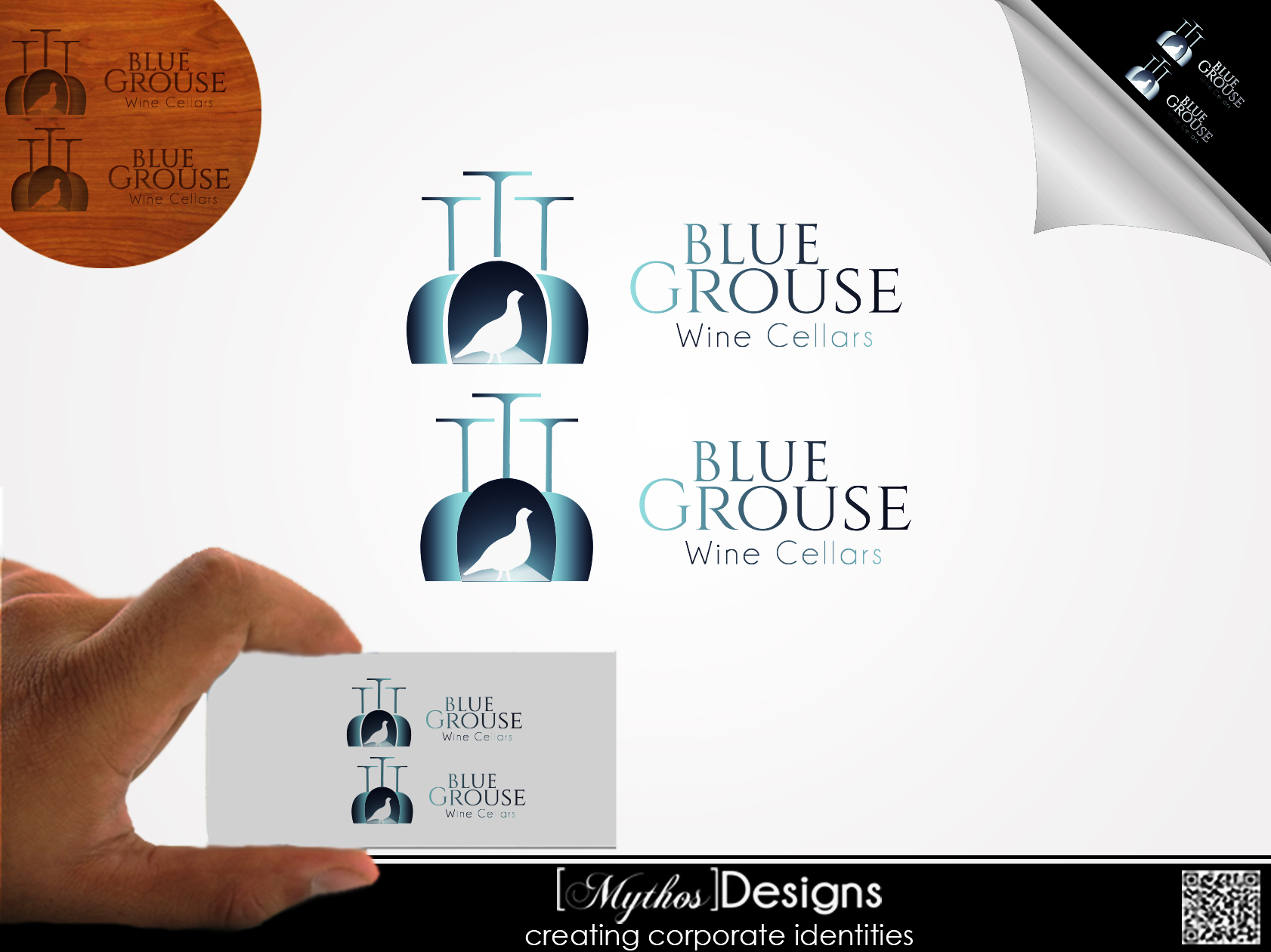 Logo Design by Mythos Designs - Entry No. 173 in the Logo Design Contest Creative Logo Design for Blue Grouse Wine Cellars.