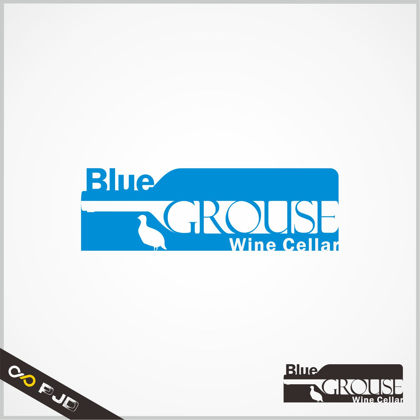 Logo Design by PJD - Entry No. 176 in the Logo Design Contest Creative Logo Design for Blue Grouse Wine Cellars.