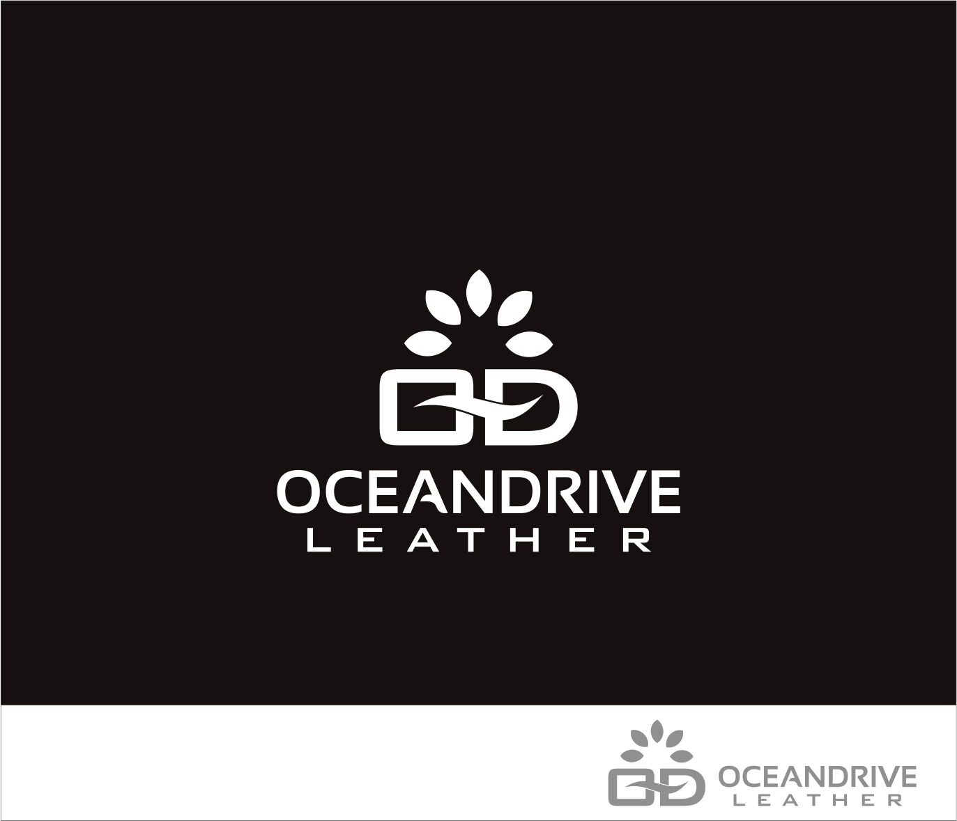 Logo Design by Armada Jamaluddin - Entry No. 65 in the Logo Design Contest Captivating Logo Design for Oceandrive Leather.
