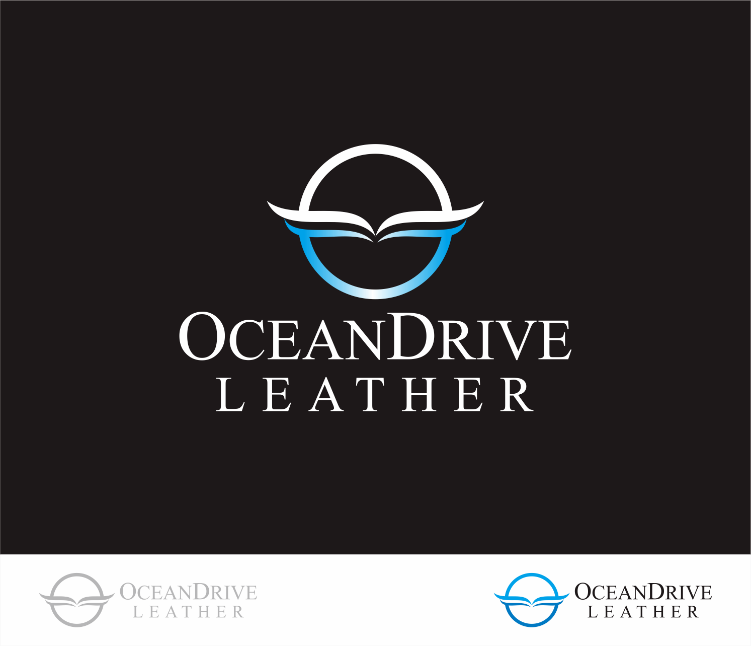 Logo Design by Armada Jamaluddin - Entry No. 67 in the Logo Design Contest Captivating Logo Design for Oceandrive Leather.