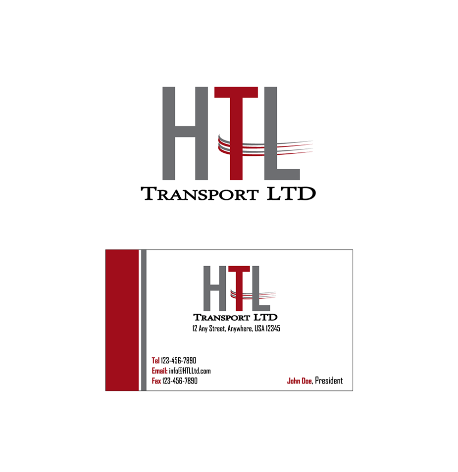 Business Card Design by robken0174 - Entry No. 1 in the Business Card Design Contest Fun Business Card Design for HTL Transport LTD.