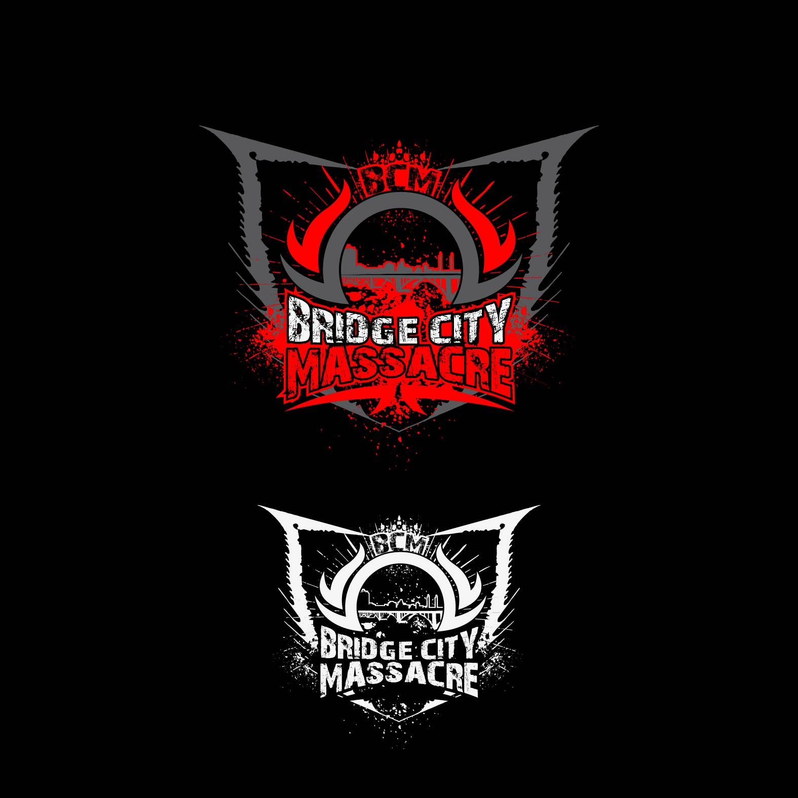 Logo Design by lagalag - Entry No. 20 in the Logo Design Contest New Logo Design for Bridge City Massacre.