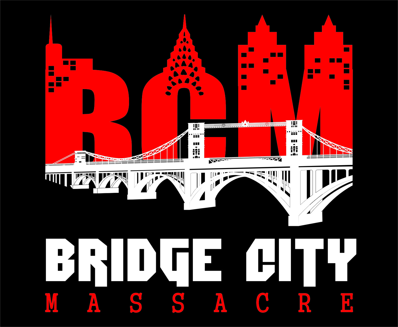 Logo Design by Ngepet_art - Entry No. 23 in the Logo Design Contest New Logo Design for Bridge City Massacre.