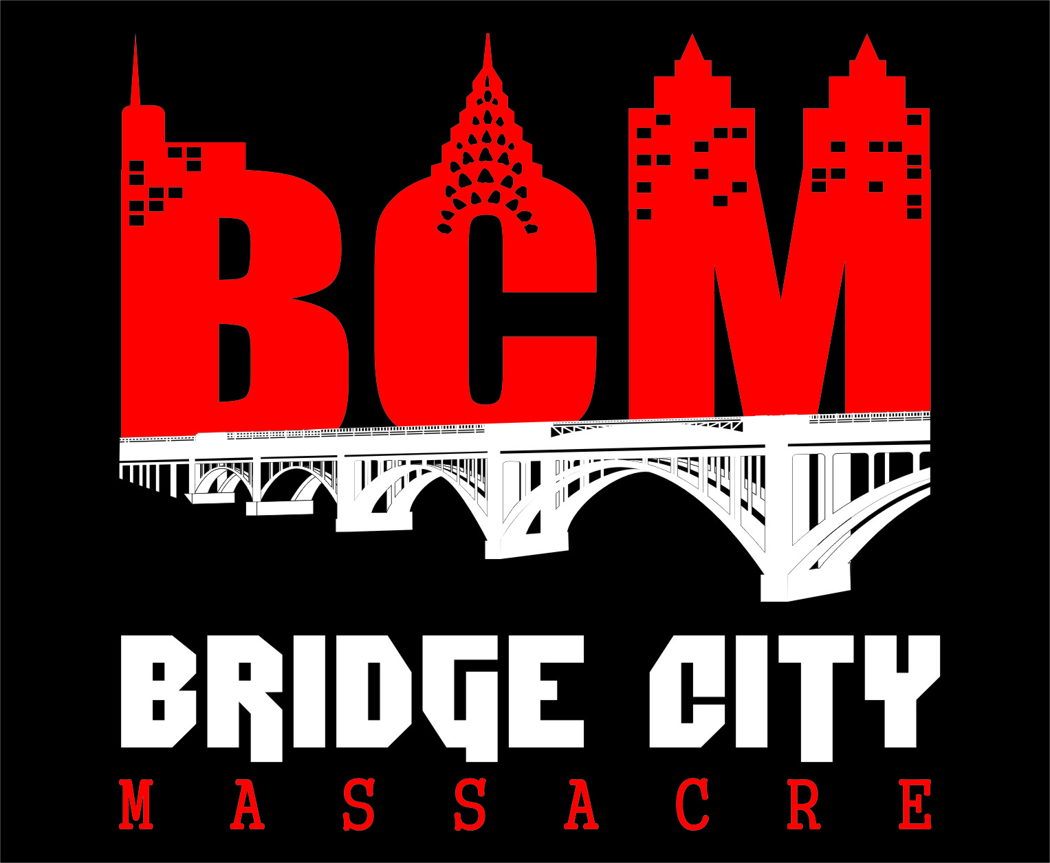Logo Design by RasYa Muhammad Athaya - Entry No. 24 in the Logo Design Contest New Logo Design for Bridge City Massacre.