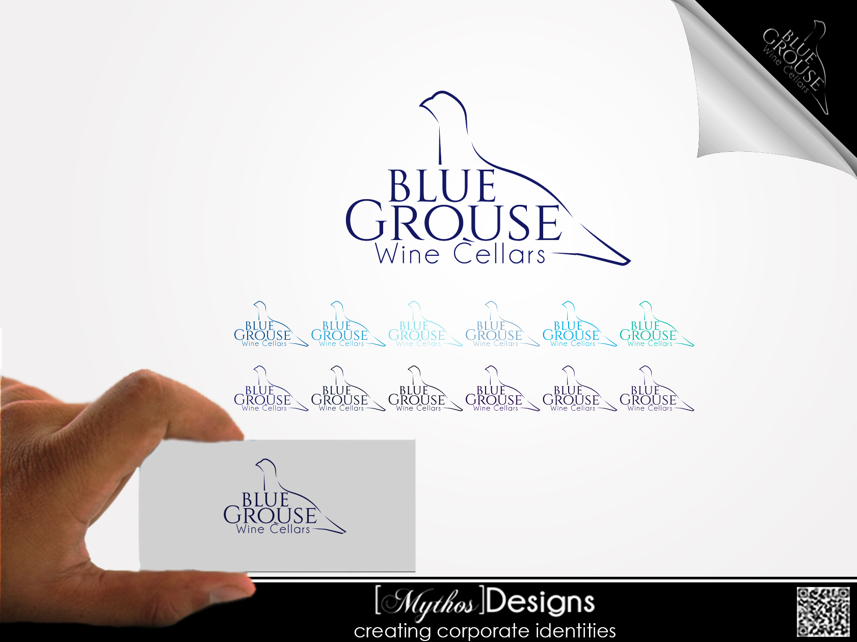 Logo Design by Mythos Designs - Entry No. 182 in the Logo Design Contest Creative Logo Design for Blue Grouse Wine Cellars.