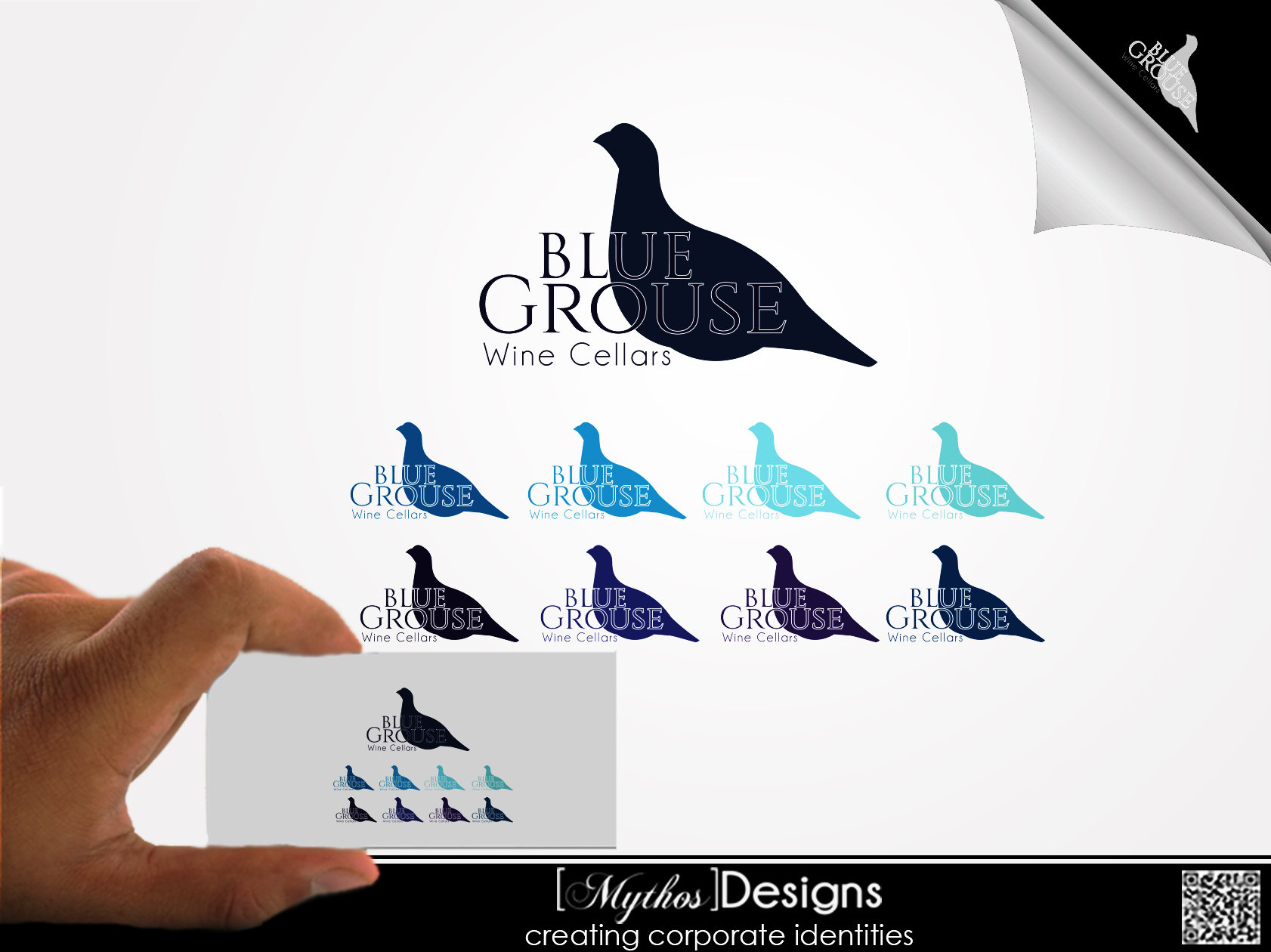 Logo Design by Mythos Designs - Entry No. 183 in the Logo Design Contest Creative Logo Design for Blue Grouse Wine Cellars.