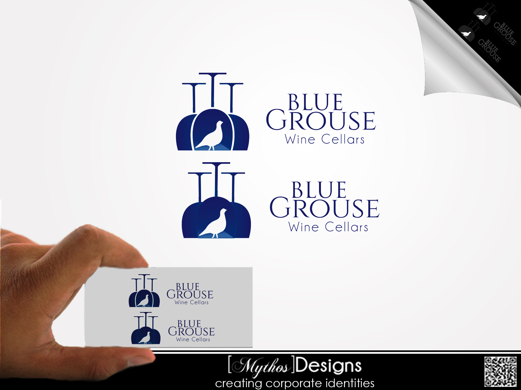Logo Design by Mythos Designs - Entry No. 184 in the Logo Design Contest Creative Logo Design for Blue Grouse Wine Cellars.
