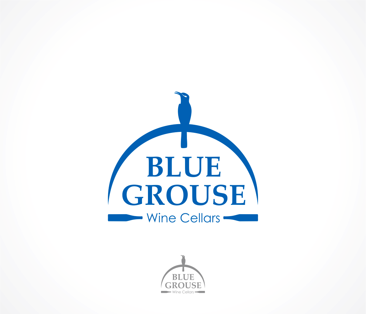 Logo Design by Armada Jamaluddin - Entry No. 185 in the Logo Design Contest Creative Logo Design for Blue Grouse Wine Cellars.