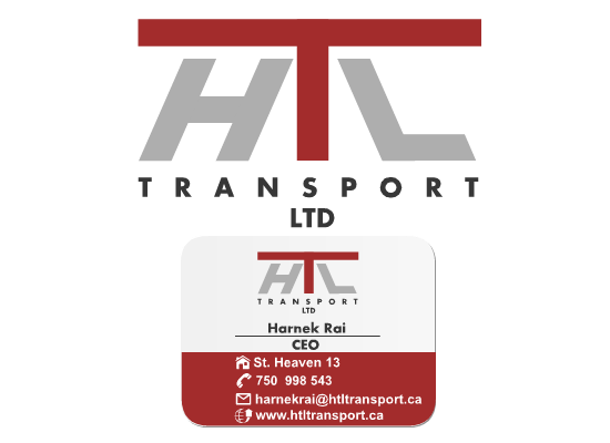 Business Card Design by Ismail Adhi Wibowo - Entry No. 6 in the Business Card Design Contest Fun Business Card Design for HTL Transport LTD.