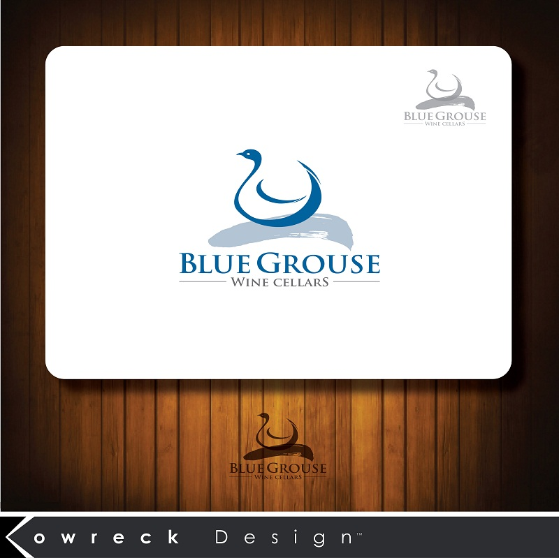 Logo Design by kowreck - Entry No. 187 in the Logo Design Contest Creative Logo Design for Blue Grouse Wine Cellars.