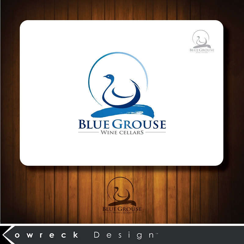 Logo Design by kowreck - Entry No. 188 in the Logo Design Contest Creative Logo Design for Blue Grouse Wine Cellars.