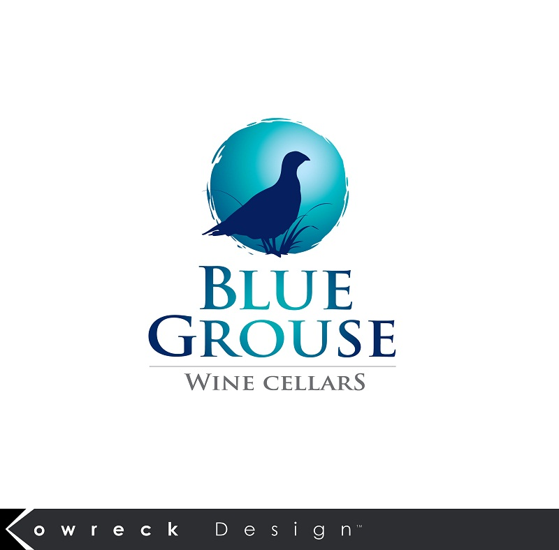 Logo Design by kowreck - Entry No. 190 in the Logo Design Contest Creative Logo Design for Blue Grouse Wine Cellars.