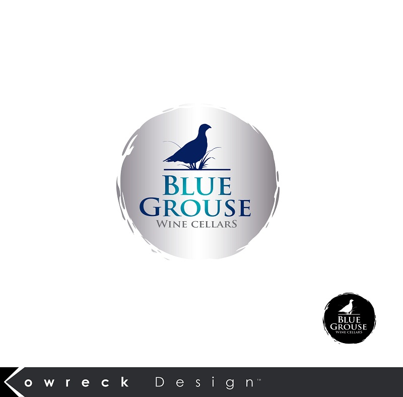Logo Design by kowreck - Entry No. 191 in the Logo Design Contest Creative Logo Design for Blue Grouse Wine Cellars.