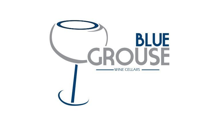 Logo Design by Tenstar Design - Entry No. 193 in the Logo Design Contest Creative Logo Design for Blue Grouse Wine Cellars.