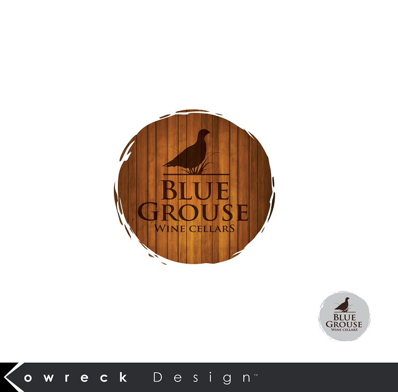 Logo Design by kowreck - Entry No. 195 in the Logo Design Contest Creative Logo Design for Blue Grouse Wine Cellars.