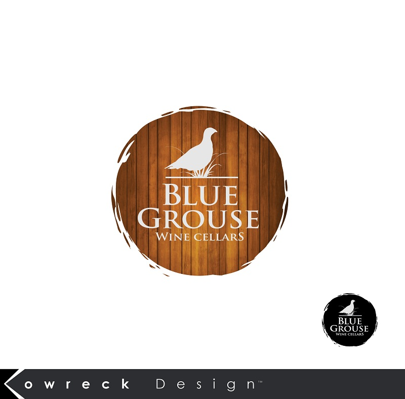 Logo Design by kowreck - Entry No. 196 in the Logo Design Contest Creative Logo Design for Blue Grouse Wine Cellars.