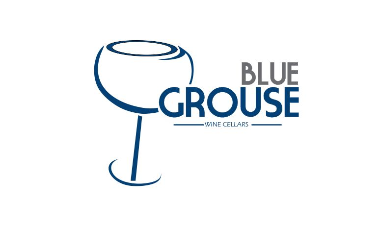 Logo Design by Tenstar Design - Entry No. 197 in the Logo Design Contest Creative Logo Design for Blue Grouse Wine Cellars.