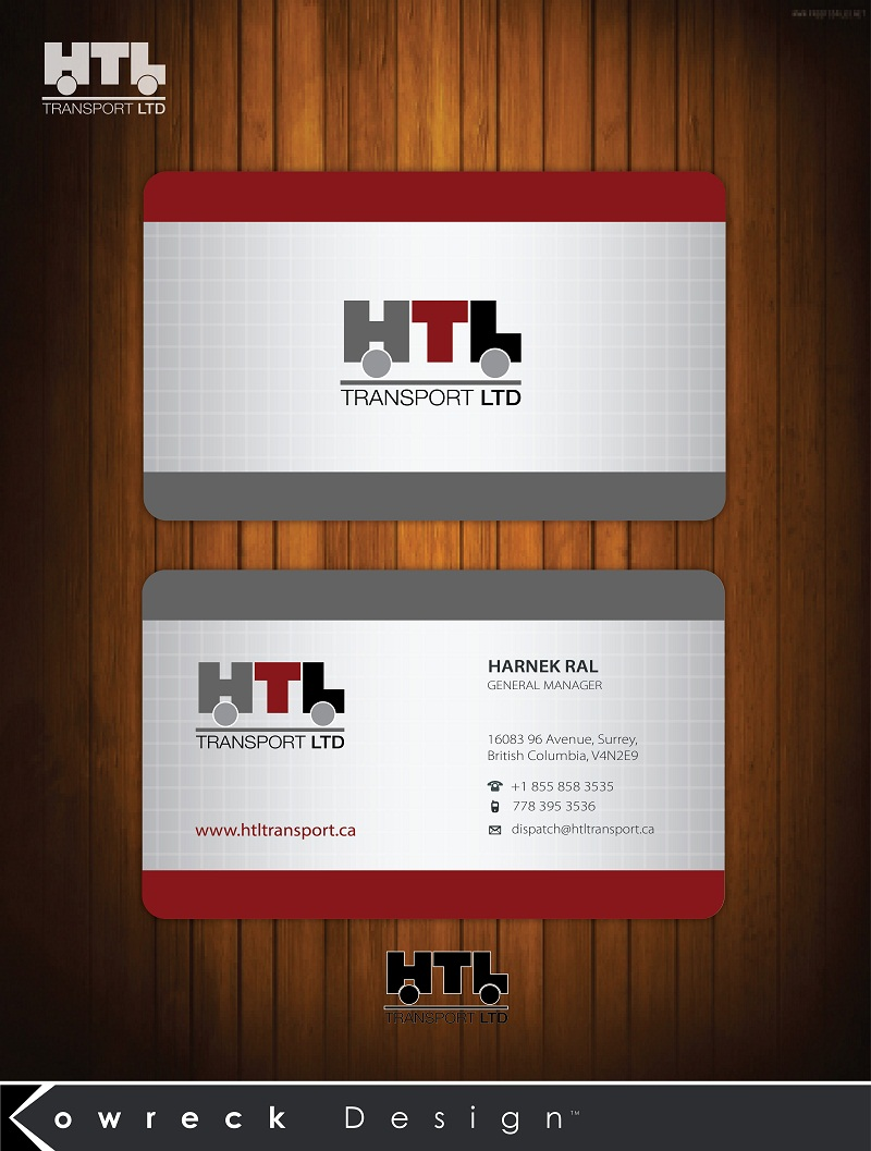 Business Card Design by kowreck - Entry No. 11 in the Business Card Design Contest Fun Business Card Design for HTL Transport LTD.