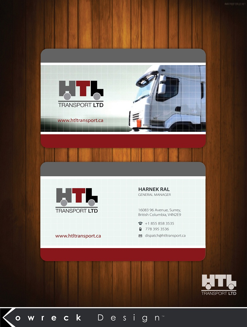 Business Card Design by kowreck - Entry No. 13 in the Business Card Design Contest Fun Business Card Design for HTL Transport LTD.
