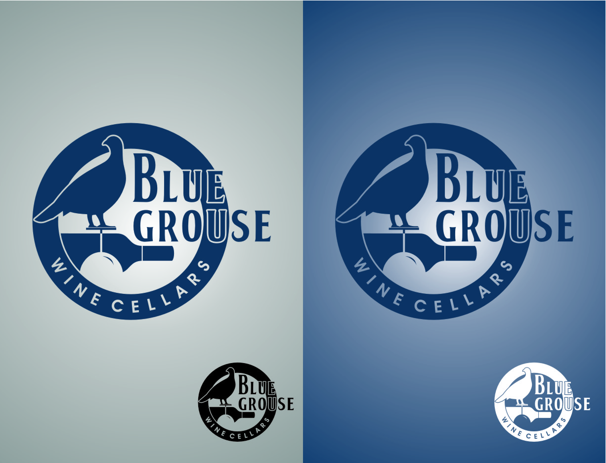 Logo Design by Ngepet_art - Entry No. 199 in the Logo Design Contest Creative Logo Design for Blue Grouse Wine Cellars.
