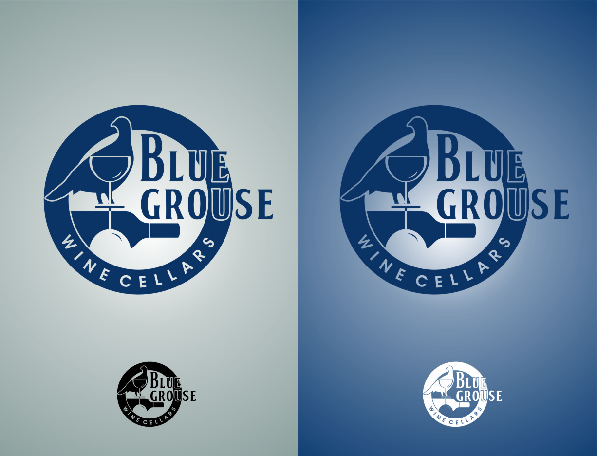 Logo Design by Ngepet_art - Entry No. 200 in the Logo Design Contest Creative Logo Design for Blue Grouse Wine Cellars.