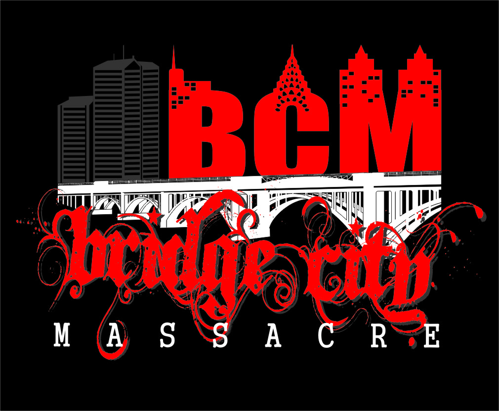 Logo Design by RasYa Muhammad Athaya - Entry No. 33 in the Logo Design Contest New Logo Design for Bridge City Massacre.