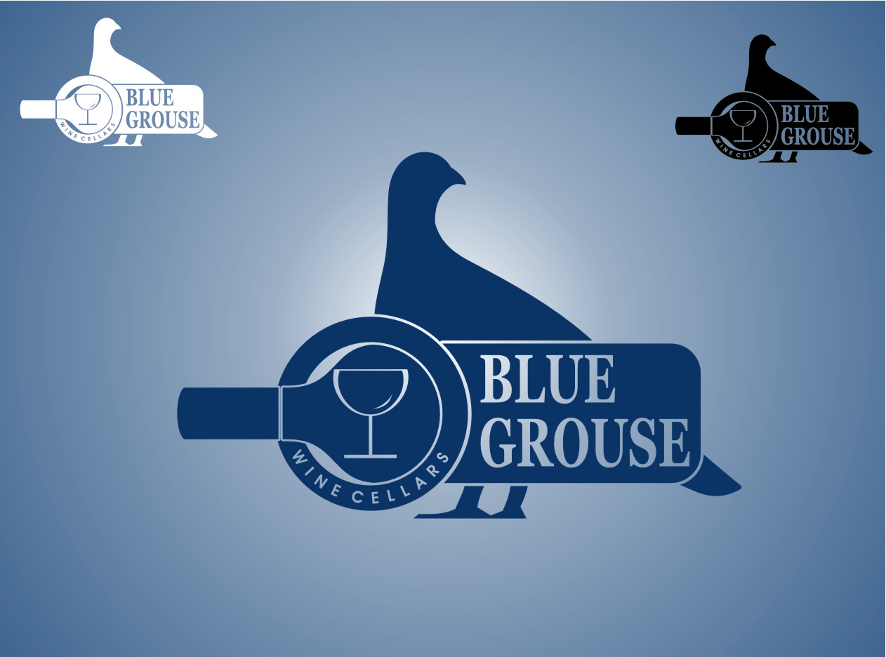 Logo Design by RasYa Muhammad Athaya - Entry No. 201 in the Logo Design Contest Creative Logo Design for Blue Grouse Wine Cellars.
