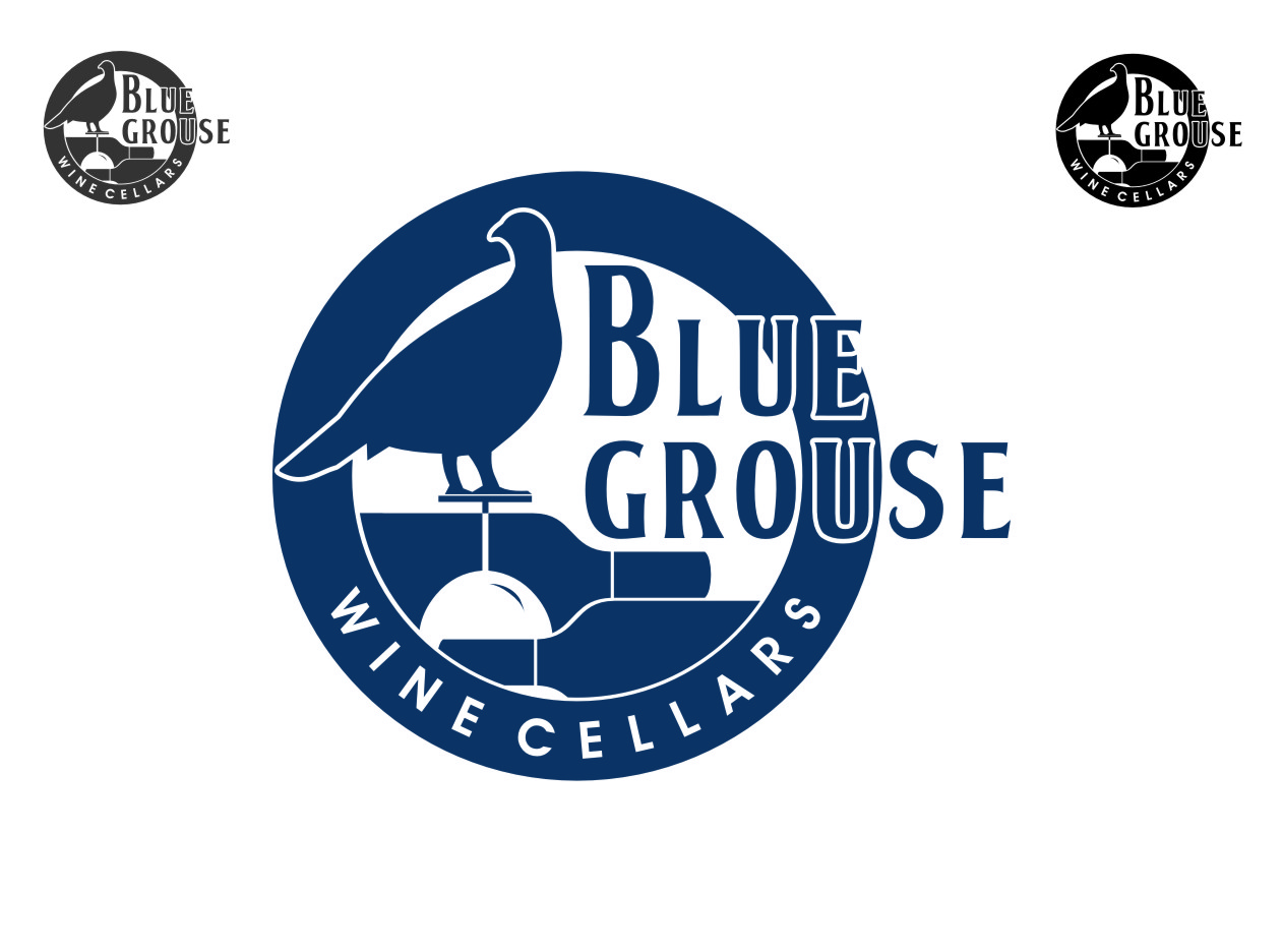 Logo Design by RasYa Muhammad Athaya - Entry No. 202 in the Logo Design Contest Creative Logo Design for Blue Grouse Wine Cellars.