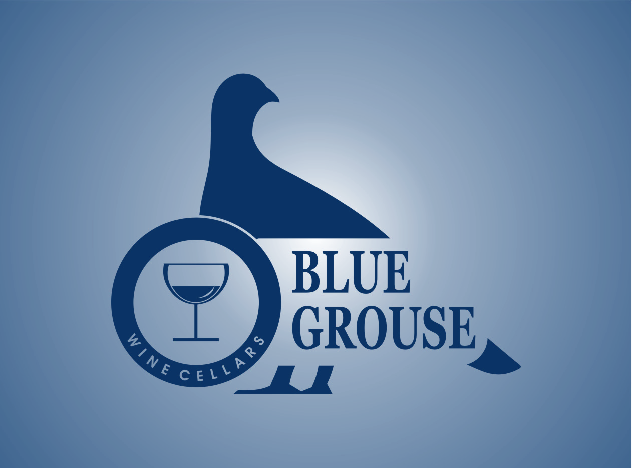 Logo Design by Ngepet_art - Entry No. 203 in the Logo Design Contest Creative Logo Design for Blue Grouse Wine Cellars.